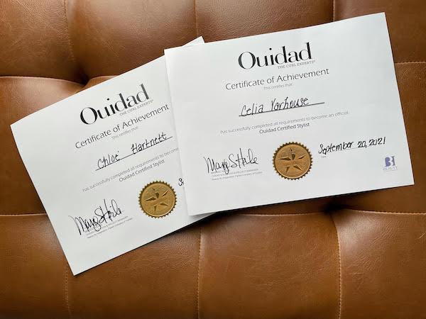 ouidad certificates